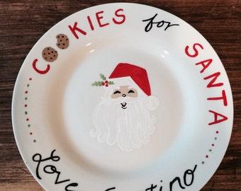 Santa's Christmas Cookie Plate