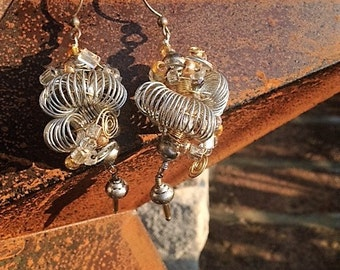 Unique Coiled Earrings