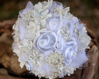 For once in my life...White Bridal Bouquet