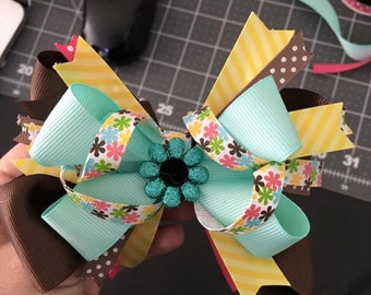 "5"" Flower Hair Bow"
