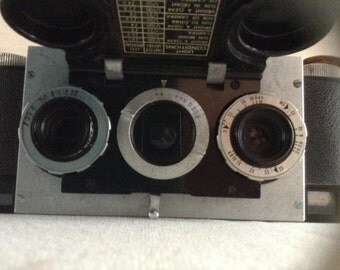 Vintage 1950s Stereo Realist David White Camera and Case