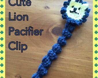 Cute Lion Pacifier Clip