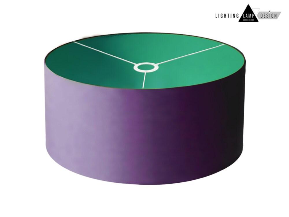 Bright colored lamp shades - Pendant drum shade lighting - Lamp ...