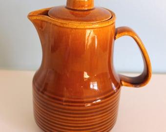Golden Brown Stoneware Tea Pot