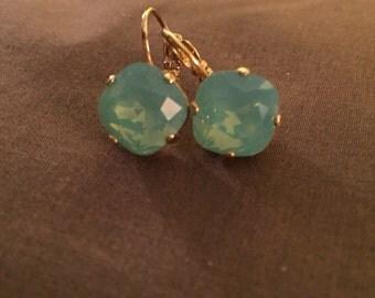 Pacific Green Drop Earrings