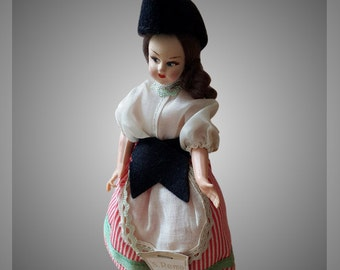 Magis Roma 1940's san Remo Doll Vintage Italy Bambola Di epoca