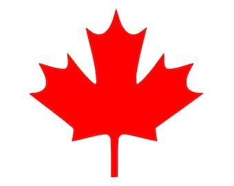 Maple Leaf Vinyl Decal Canadian symbol Canada Sticker 0042