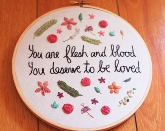 "Florence + the Machine - 7"" embroidery hoop"