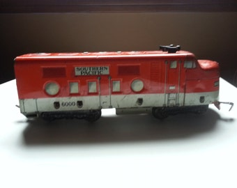 Vintage Marx Engine Train Southern Pacific 6000