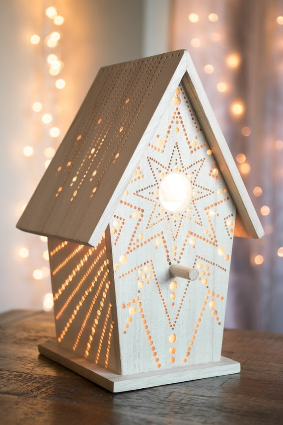 Starburst lamp etsy - Starburst Birdhouse Night Light Woodland By Lightingbysara