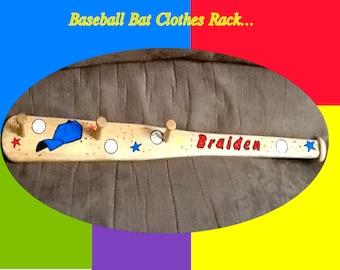 Baseball Bat Peg Rack