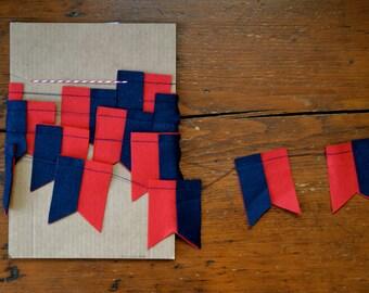 Flag Garland - Felt Garland, Home Decor, Party Decor, Tailgating