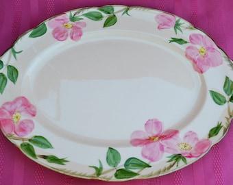 Vintage Franciscan Desert Rose Oval Platter, Franciscan Platter