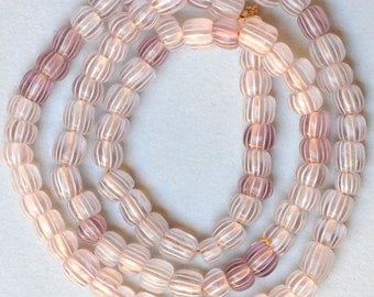 Vintage Venetian Glass Gooseberry Beads - African Trade Beads - Various Sizes - 22-25 Inch Strands