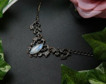 Necklace elven stone Moon / / / Elven moonstone necklace