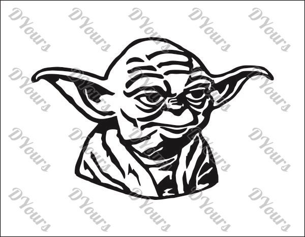 yoda star wars vector model svg cdr ai pdf eps files