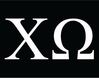 Chi Omega Sorority greek letters decal vinyl window bumper car laptop sticker any size any color free shipping worldwide!