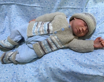 Baby Hand Knitted Outfit