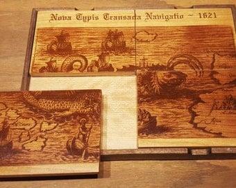 Artwork Coaster - Map 1621