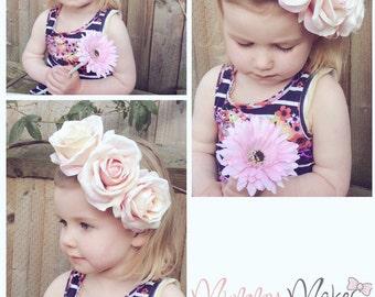 Peonie bloom headband