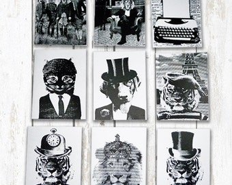Hand Screen printed cards (sizeA6)