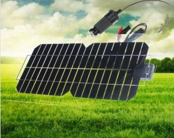 18V 5.5W 31.5 x 16.5 x 0.15CM Semi-Flexible Solar Panel With Cables