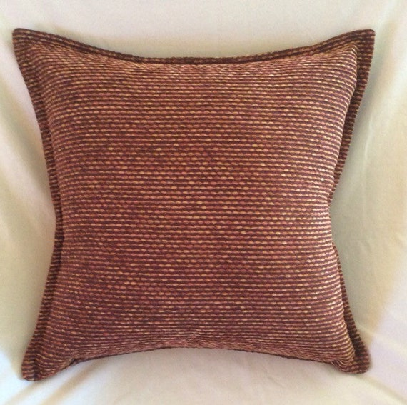 brown rust orange gold textured velour decorative pillow cover
