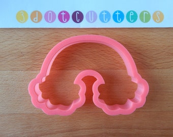 Rainbow with Clouds cookie cutter, 3d printed cookie cutter, Rainbow cookie cutter, Clouds cookie cutter, Nature cookie cutter, NatureParty
