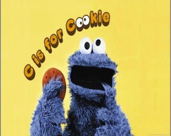 """2"""" x 3"""" Magnet Cookie Monster C is for Cookie"""