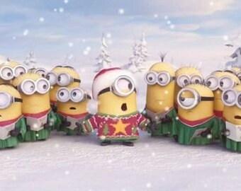 "2"" x 3"" Magnet Minions Christmas Caroling"