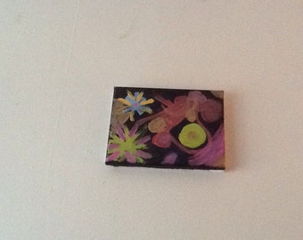 """Abstract """"6x8"""" painting"""