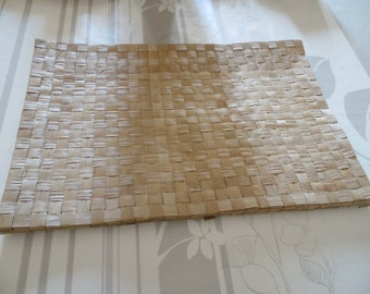 Lot of 6 placemat in braided coconut; vintage 80; France