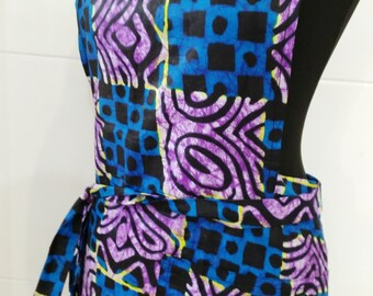 Apron in African fabric