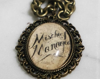 Harry Potter mischief managed necklace