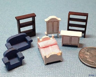 DIY 1:144 dollhouse miniature tiny furniture kit FS 438