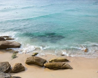 Blue Water Tamarama fine art photo, travel photography, travel print, Australian travel photo