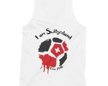 I am Switzerland ! Tank top for Men or Women,Euro 2016, football, soccer, Shaqiri, Inler, Suisse, Geneve, Bâle, champion's league, sexy, hot