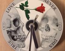 TRUE LOVE Never Dies CD Clock (Can be Personalised)