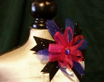 Purple, Magenta and Black Hair Barrette