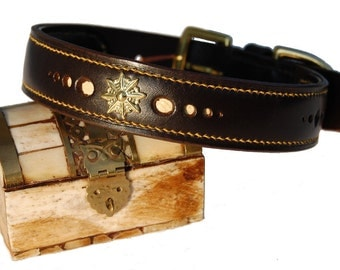 Completely Hand Made Leather Dog Collar