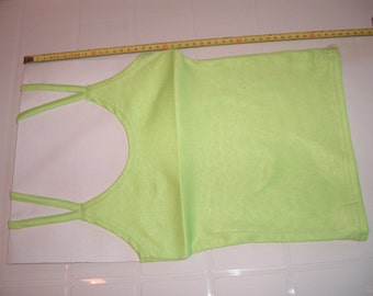 Light Green Color Woman Top with double straps - Smal Size - S