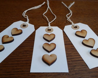 Wooden Heart Gift Labels (Pack of 3)