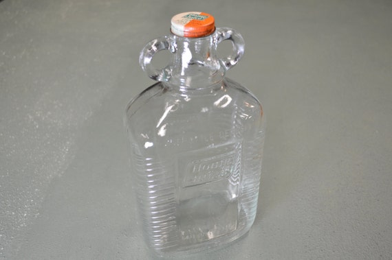 Home Juice Bottle Vintage Glass Glass Jug Embossed Glass