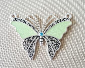 Light Green Butterfly Pendant