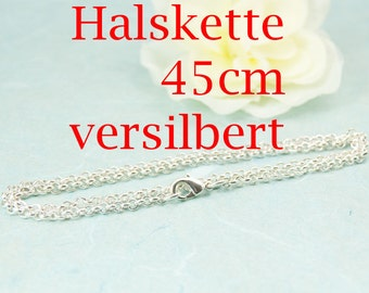 45cm Jasseron necklace with extra eye silver plated art. 3207