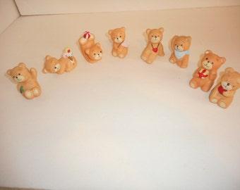Bear Miniatures set of 8