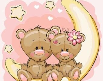 Cute Teddy Bears Coloring Book 1