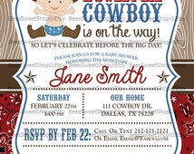 Cowboy Baby Shower Invitations Printable Digital File   Personalized