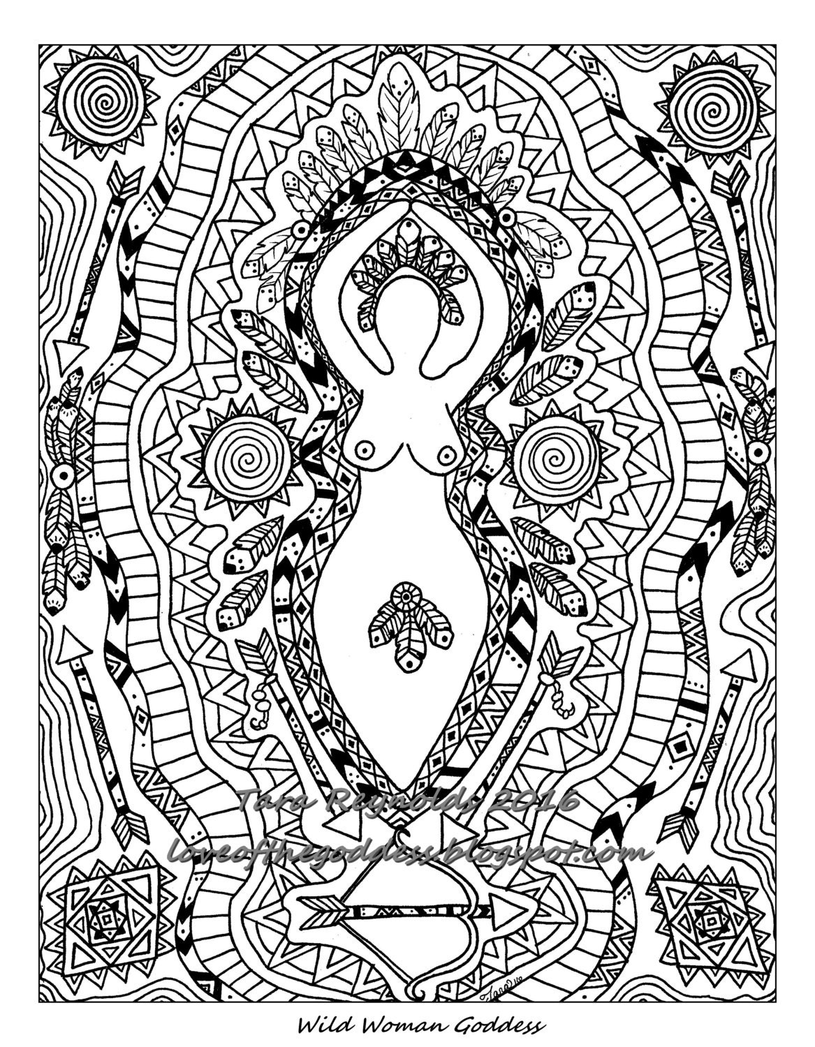 free wiccan coloring pages - photo#30