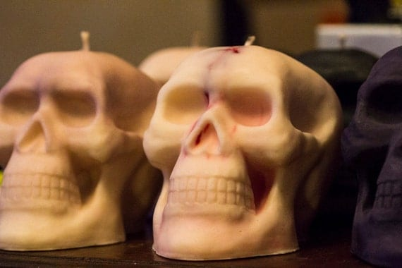 BDSM Soy Giant X Large Skull, The Missing Kink, Red Rigger Soy Wax Play Candle, BDSM Candles, Homemade Kinky